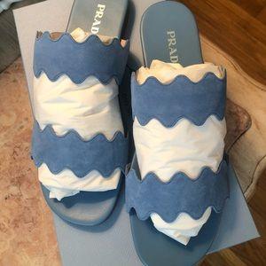 Prada blue mare sandals